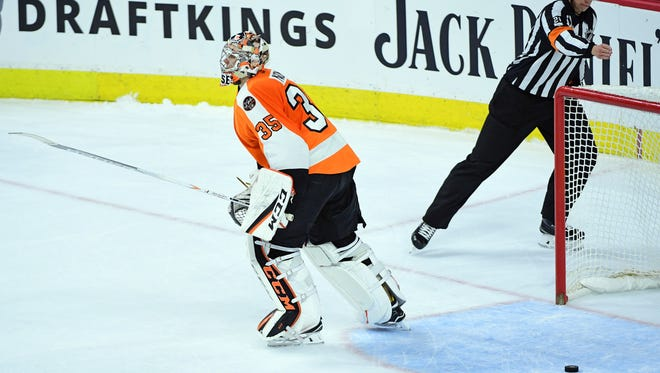 Steve Mason was in no mood to chat after giving up a late goal that led to a shootout, which the Flyers lost 3-2.