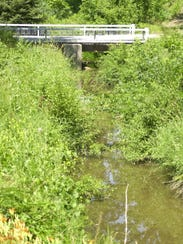 Stocks Creek meanders through three townships, including