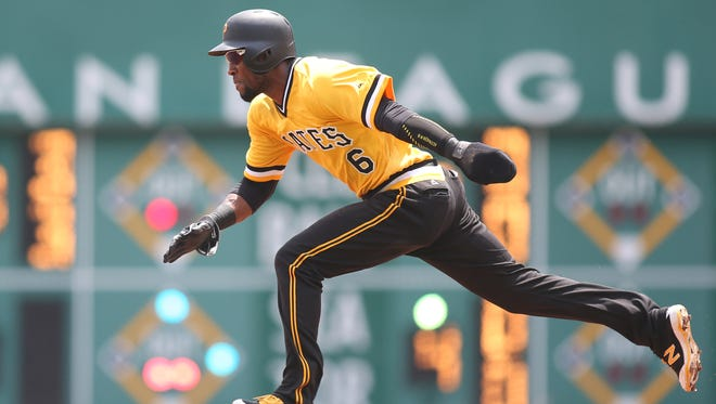Outfielder Starling Marte had his streak of four consecutive seasons with at least 30 stolen bases snapped in 2017, but he still managed to steal 21 in 77 games.