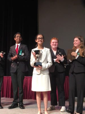 A Baker Middle School student was named the nationalchampion in congressional debate.  Genevieve Cox earned the title during last week's2017 Middle School National TournamentinBirmingham, Ala.