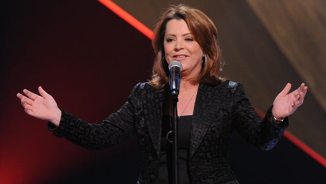 """Comedian Kathleen Madigan performs as part of CMT Presents """"Ron White's Comedy Salute To The Troops."""""""