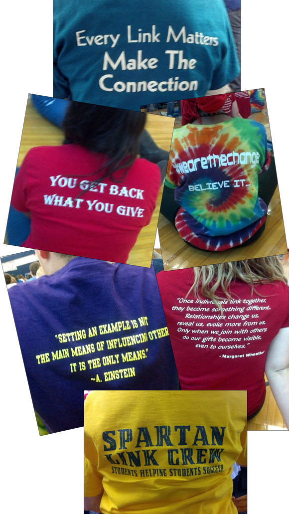 A sample of the many t-shirts (and schools) represented at the Link Leader conference.