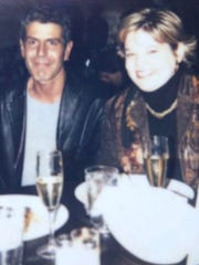 A 2001 photo of Anthony Bourdain and News Journal reporter Patricia Talorico having dinner at the old Blue Angel in Philadelphia.