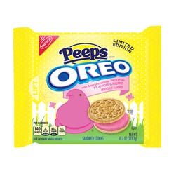 Yup, Peeps-flavored Oreos are here