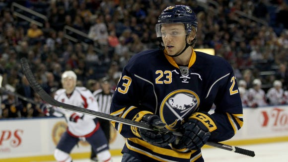 Sam Reinhart played with the Buffalo Sabres in the preseason and for 9 regular season NHL games before he was returned to junior. He'll make his Amerks debut on Friday night.
