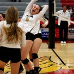 Sycamore's Patty Blood and her teammates celebrate their victory over Princeton at Princeton High School.