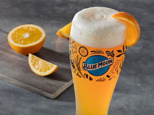 Blue Moon Brewing Co. and Olive Garden are celebrating the blue moon with this commemorative pilsner glass.