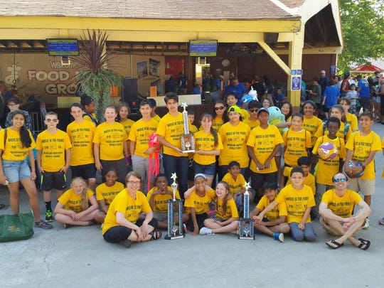 On June 6, the Middle School Jazz Band and Select Choir from The Wardlaw-Hartridge School in Edison participated in the Music In The Parks Festival and Adjudication at Dorney Park in Allentown, Pennsylvania. The Select Choir received a trophy for First Place with a Good rating and a trophy for best overall Middle School Choir and the Jazz Band received a trophy for First place with an Excellent rating. Kelly Lawrence of Scotch Plains received the Outstanding Jazz Soloist Award. The students performed in the morning and enjoyed the amusement park for the remainder of the day.