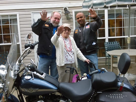 Anna Stalgaitis and friends enjoy a day of motorcycling.