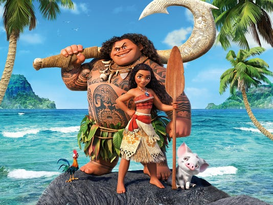 Still riding the 2016 waves of stardom and proving to be one of the fiercest Disney princesses, Moana. Credit: Disney Pictures