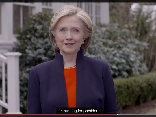 In this image taken from video posted to hillaryclinton.com