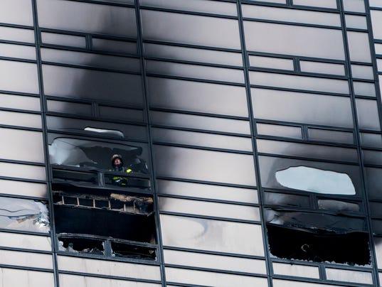 AP APTOPIX TRUMP TOWER FIRE A USA NY