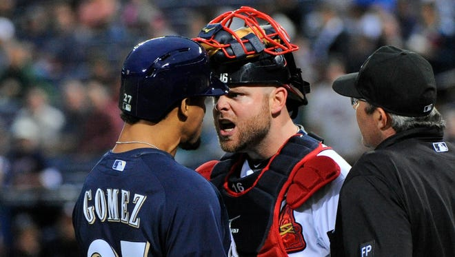 Braves catcher Brian McCann was not ejected for impeding Carlos Gomez's path to home plate and instigating a fracas.