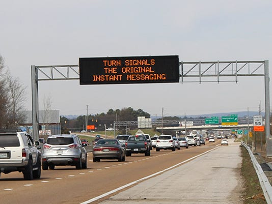 TDOT message sign
