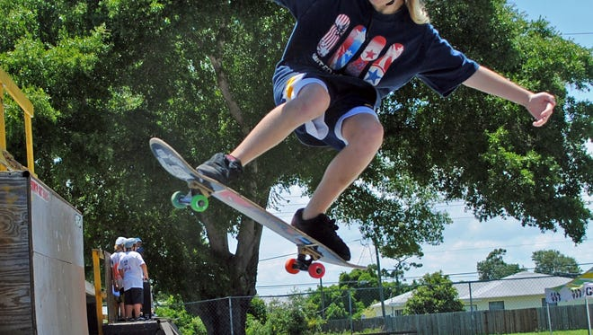 Meagan Guy, a 2020 Olympics hopeful, grew up at Graffiti Skate Zone in Palm Bay. She was 11 years old in this June 2010 FLORIDA TODAY file photo taken at the skatepark.