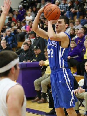 Chillicothe's Simon Roderick puts up a shot at McClain High School back on Jan. 24. Roderick will be essential in the Cavaliers' tournament run.