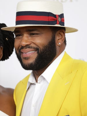 Anthony Anderson walks the red carpet at the 144th Kentucky Derby on Saturday, May 5, 2018.