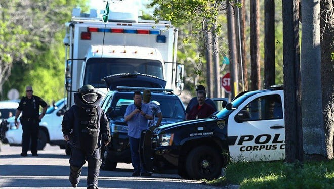 The Corpus Christi Police Department Bomb Squad is investigating possible explosive devices Tuesday, March 14, 2017, in the 1200 block of 7th Street.