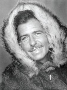 "Al Bell as he looked for ""Sons of Alaska,"" filmed in 1960. The film starred his son Doug and Becky, as well as Doug's turtle, Itsy, and the family dog, Chauncy."