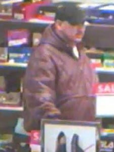 Springettsbury Township Police are searching for a man who they say robbed Boscov's Tuesday, Feb. 13. Photo courtesy of Springettsbury Township Police.