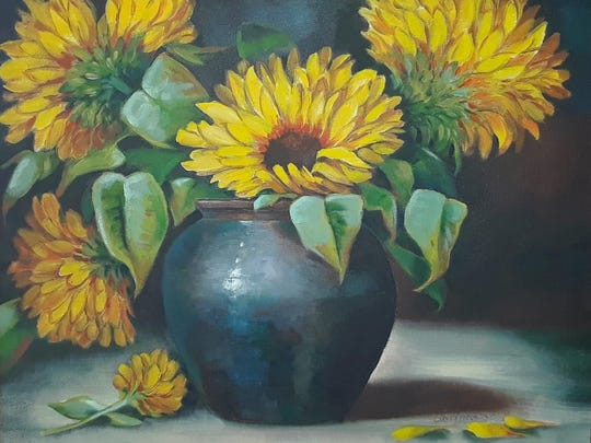 """Flowers of the Sun"" by Cindy Markowski received an honorable mention."