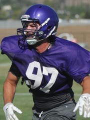 Newbury Park High graduate Kaiden Mowery is a top defensive end for the Cal Lutheran football team.