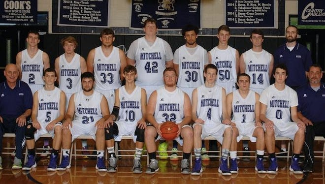Last season's Mitchell boys basketball team.