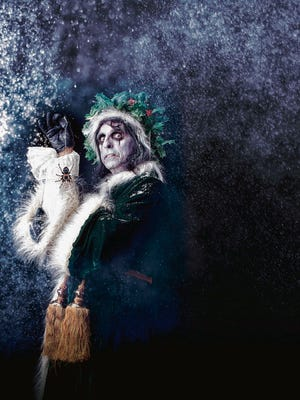 Handout art for the 2012 Alice Cooper's Christmas Pudding show.