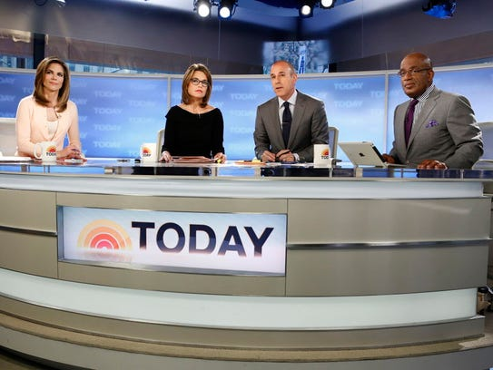 """""""Today"""" show co-hosts, from left, Natalie Morales,"""