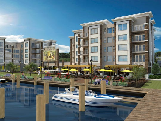 Marina Landing at the Port of Salisbury Marina will be developed by Salisbury Development Group with retail spaces and restaurants on the ground level and 56 apartments above.
