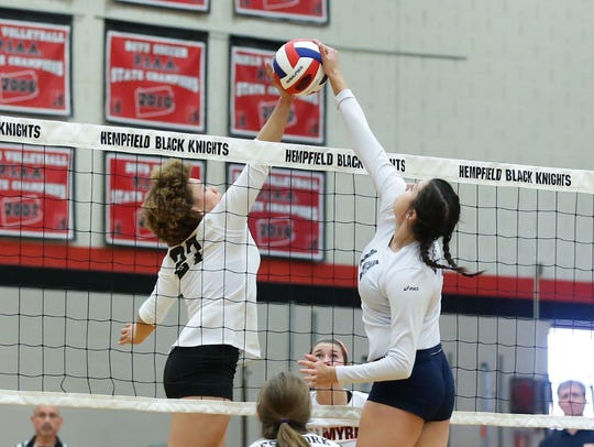 Palmyra's Kirstin West and West York's Marissa Krinock