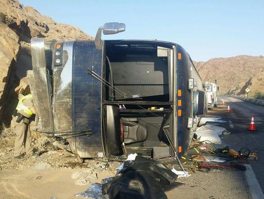 Fatal bus crash near Quartzsite