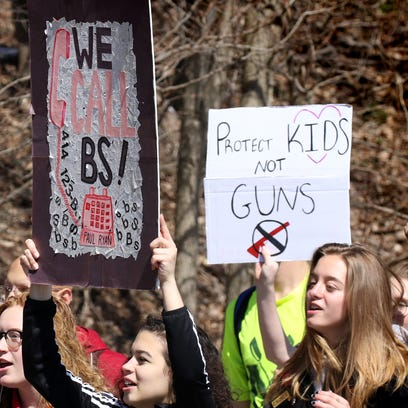 Shorewood and Rufus King students march on Columbine anniversary as they seek to 'end gun violence in this country'