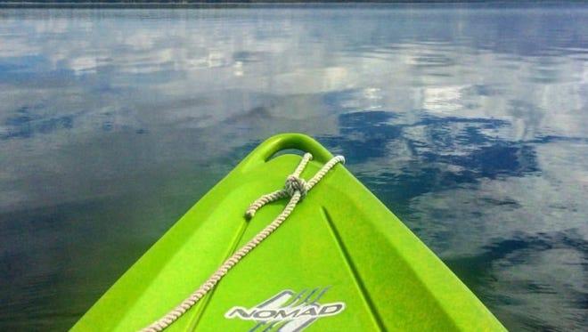 A kayak is poised to explore Lake Skegemog