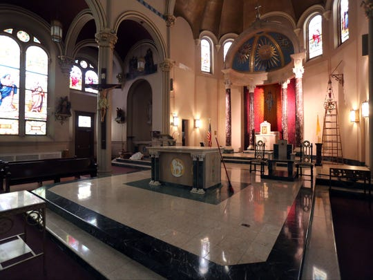 The former Most Holy Trinity Church in Yonkers will