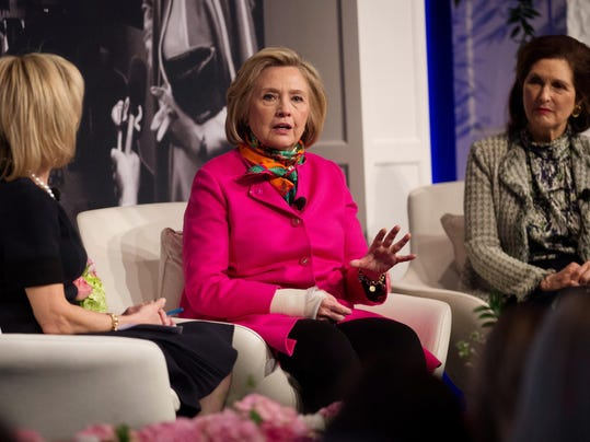 Hillary Clinton speaks at the America's First Ladies luncheon
