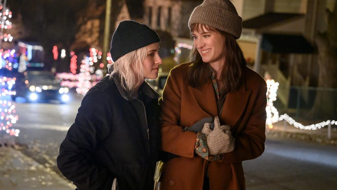 "Kristen Stewart and Mackenzie Davis star in the Hulu movie ""Happiest Season."""