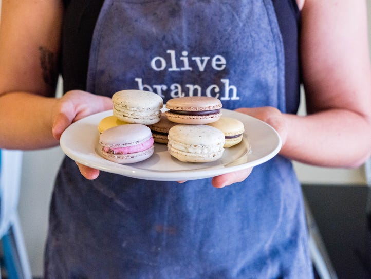 Popular for its macarons, Olive Branch bakery also