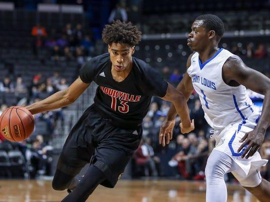NCAA Basketball: Brooklyn Hoops Classic-Louisville at Saint Louis