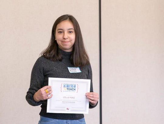 Roosevelt High School senior Lesllie Perez was awarded
