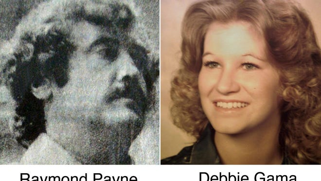 These are 1975 file photos of Raymond Payne, left, who will receive a new degree-of-guilt hearing Thursday in the 1975 murder of Debbie Gama, right.