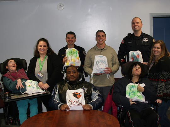 Residents and staff of the Matheny School with Randolph