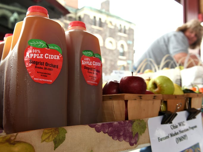 Siegrist Orchard's Apple Cider for sale at the Canal