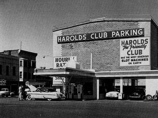 Harolds Club pigeonhole parking garage.