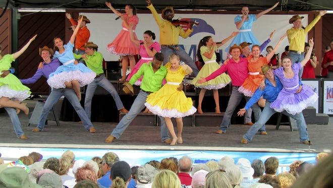 The Kids From Wisconsin have been a steady act at the Wisconsin State Fair for 49 years. The troupe of 35 singers, dancers and musicians from throughout the state performed Thursday, Aug. 10, 2017, at the Wisconsin State Fair.