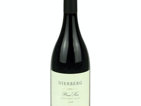 The Dierberg 2010 Pinot Noir has a full-bodied texture and finishes with notes of pepper and vanilla.