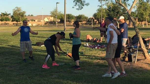 Living Chandler members recently gathered for a softball game.