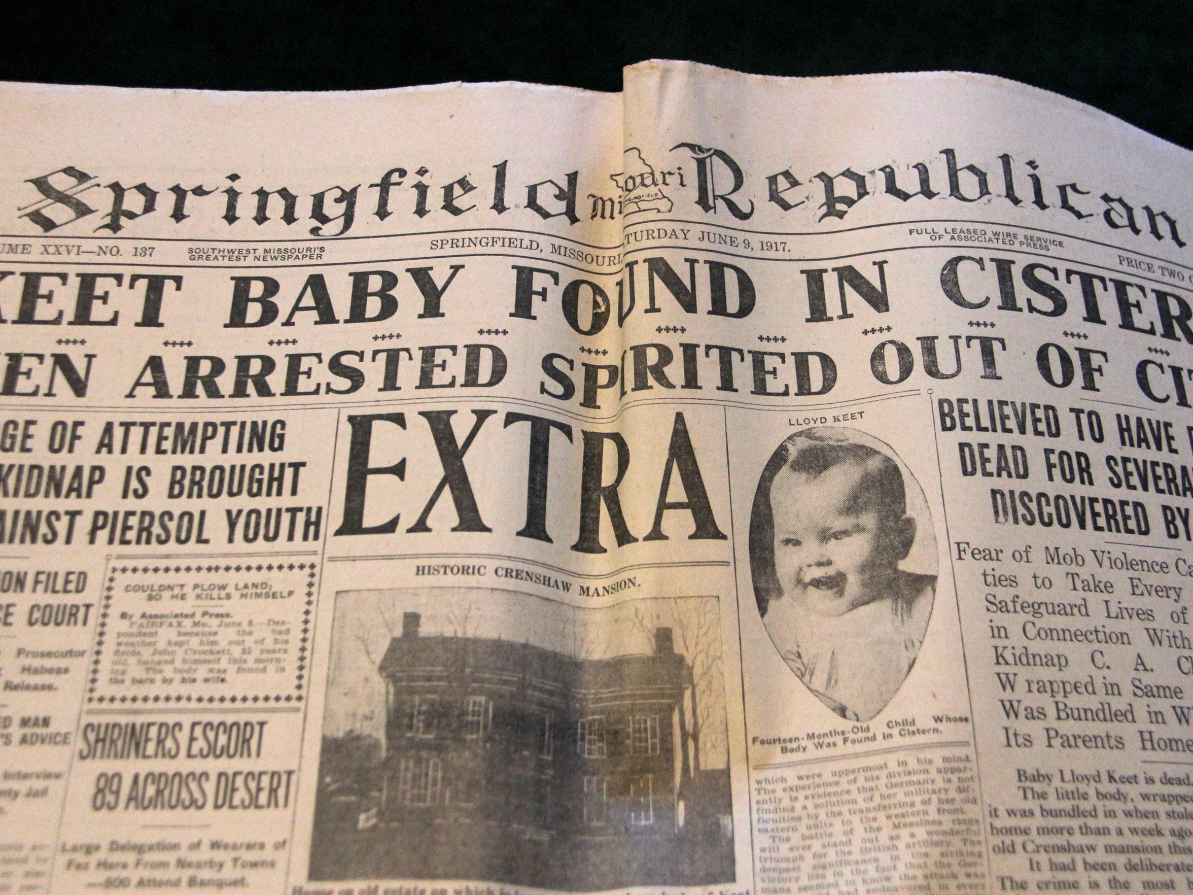 Newspapers near and far covered the kidnapping of baby