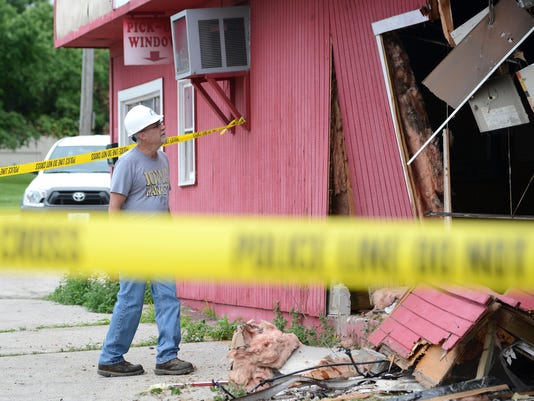 Man crashes vehicle through closed Big Daddy's BBQ