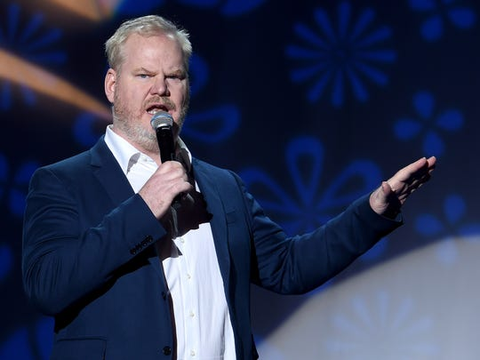 Jim Gaffigan performs at 'A Funny Thing Happened On The Way To Cure Parkinson's' event benefitting The Michael J. Fox Foundation, in New York, Saturday.